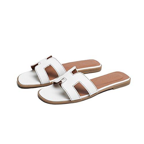 38 Portent Les Plates Loisirs en Blanc des Été étudiants Plage Chaussures de Pantoufles Taille Mode Couleur Sandales de dxTwqXq