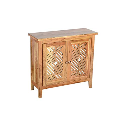 Hawthorne Collections Navajo Solid Mango Wood Two Door Cabinet by Hawthorne Collections