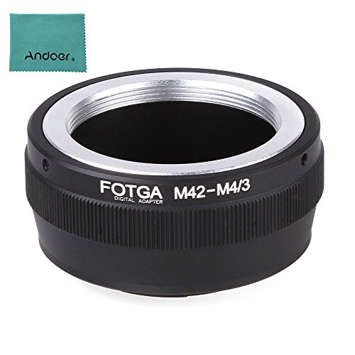 - Fotga Adapter Ring for M42 Lens to Micro 4/3 Mount Camera Olympus Panasonic DSLR Camera