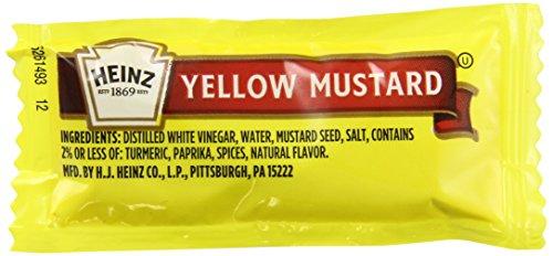 - Heinz Mild Mustard, Single Serve, 0.2 oz. pack, Pack of 1000