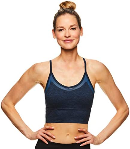 Performance Yoga Sports Bra Gaiam Womens Strappy Racerback Bralette