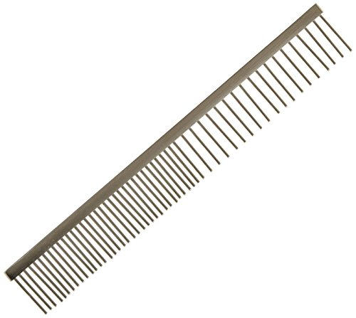 Tamsco Pet Comb, 8 1/4-Inch, Stainless Teel Medium And Coarse Sides All Stainless Steel Hand Set by Tamsco