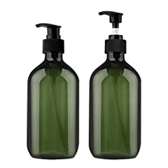Pump bottle dispenser, Yebeauty Empty Amber Bottles with Black Lotion Pumps 17oz/500ml Pump Bottle Refillable Containers for Emulsion Shampoo ,Essential Oils, Cleaning Products, Pack of 2Dimensions: capacity: 17oz/500mlFeatures: green color t...