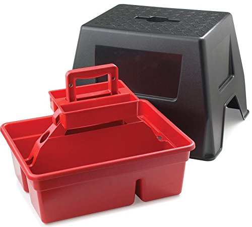 Duratote Step Stool with Grooming Box Red