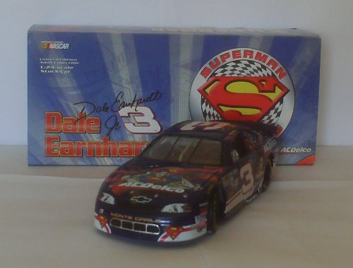 Action - NASCAR - Dale Earnhardt Jr #3 - 1999 Chevy Monte Carlo - AC Delco / Superman Racing Paint - RARE - 1:24 Scale - Die Cast - OOP - Limited Edition - Collectible by Action Racing