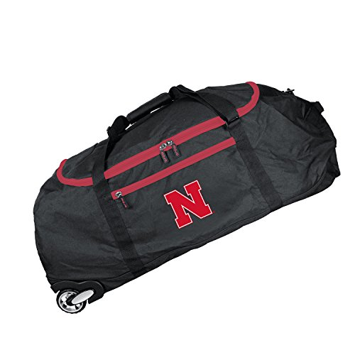NCAA Nebraska Cornhuskers Crusader Collapsible Duffel, 36-inches
