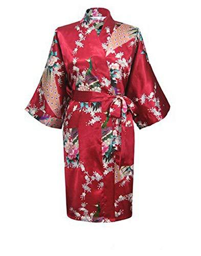 fd207e6033 Satin Robes for Brides Wedding Sleepwear Silk Pijama Casual Bathrobe  Nightgown Women
