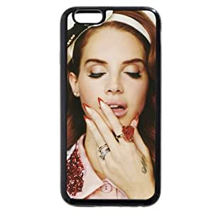 Super Onelee - Customized Personalized Soft Rubber(TPU) iPhone 6+ Plus 5.5 Case, American Famous Singer Lana Del Rey iPhone 6 Plus case, Only fit iPhone 6+ (5.5 Inch)