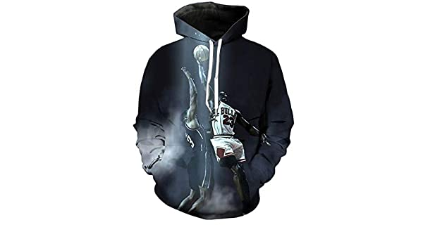 3D Jordan Hoodies Sweatshirt Crewneck Hoodie Casual Men Sportswear Tracksuit at Amazon Mens Clothing store: