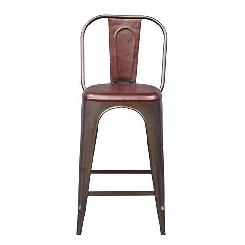 Cheap Pulaski  Rowan Industrial Leather Barstool, 19″ x 19 x 43″, Brown