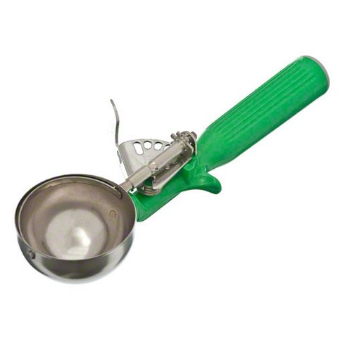 Green Ice Cream - Vollrath (47142) 2-2/3 oz Stainless Steel Disher - Size 12