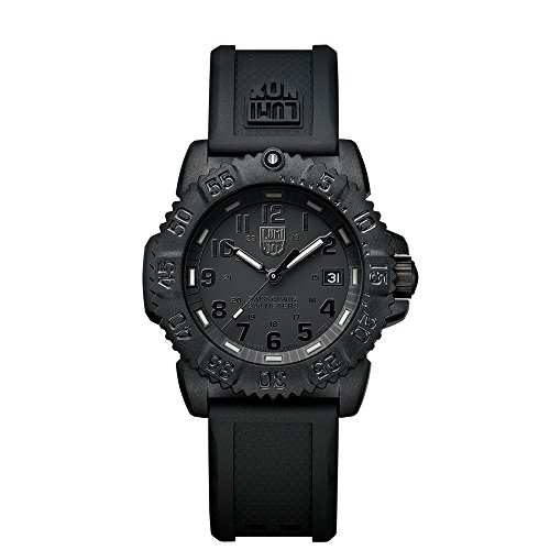 Luminox Sea Navy Seal Colormark 7050 Mid-size Black Rubber Strap Watch A.7051.BO by Luminox