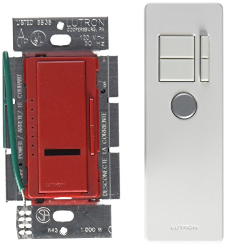 - Lutron Maestro 1000-Watt IR Dimmer Switch for Incandescent and Halogen Bulbs, Single-Pole, with IR Remote Control MIR-1000T-HT, Hot