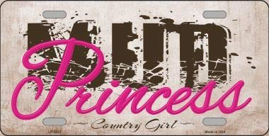 with Sticky Notes Mud Princess Novelty Metal License Plate