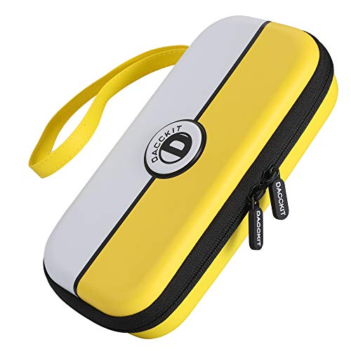 D DACCKIT Travel Carrying Case for Nintendo Switch Lite and Accessories - Yellow and White