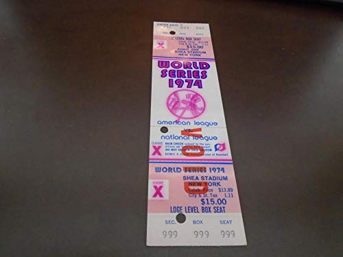 49e8e8e8710 1974 NEW YORK YANKEES WORLD SERIES PHANTOM FULL TICKET