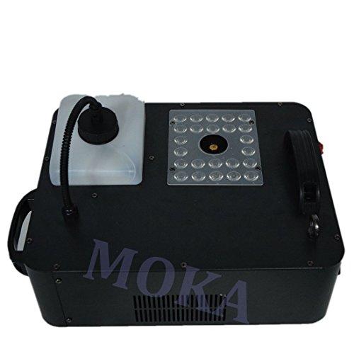 2pcs/lot New Powerful 1500w DMX Led Fog Machine for Halloween Decorations ,Co2 Effect Smoke Machine with 24leds RGB Color Remote (Halloween Smoke Machine)