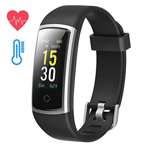 Sobotoo Fitness Tracker Activity Tracker,Blood Pressure Monitor Heart Rate Monitor,Color Screen,IP68 Waterproof with…