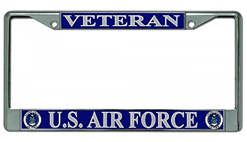 Which are the best air force veteran license plate frame available in 2020?