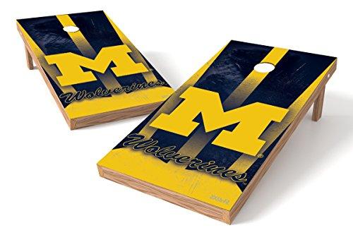Wild Sports NCAA College Michigan Wolverines 2' x 4' Authentic Cornhole Game Set