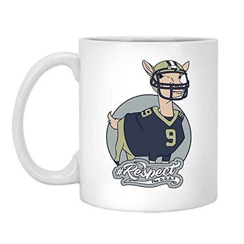 Goat Mugs for Sports Fans - Greatest of All Time Players - Great Gifts for Men & Women or Any True Fan of The Game - Ceramic Coffee, Tea Cup - Dishwasher & Microwave Safe Mug