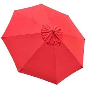 Patio Market - Paraguas de repuesto para toldo de 22,86 cm, color rojo