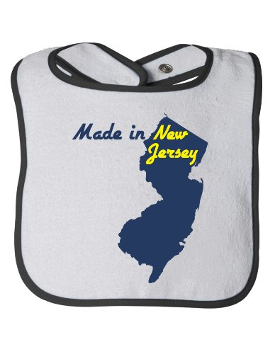 MADE IN NEW JERSEY Baby Feeding Bib / Cute, Funny Infant Newborn NJ Humor