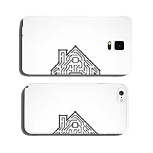 Circuit board house icon cell phone cover case iPhone6
