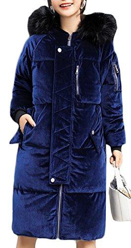 Jacket Women Faux Winter Velvet Fur UK today 1 Zipper Down Coat Hooded xTqHvK