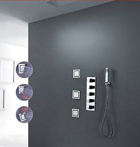 GOWE wall mounted thermostatic faucet thermostatic shower set digital shower mixer shower faucet digital faucet smart shower room