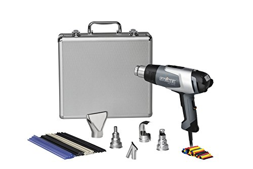 Steinel HL 2020 E Silver Kit - incl. Heat Tool with LCD-Display and Variable Temperature, hot air Gun Set for desoldering, Welding Plastics, evenly Drying Filler, Stripping Paint