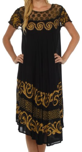 Calista Embroidered Caftan Dress