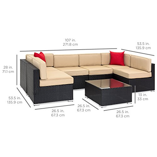 Best Choice Products 7 Piece Modular Outdoor Patio