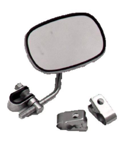 Emgo Universal Clamp-On Mirror - 125mm x 86mm, TInted, for 7/8in. Bars Either 20-49800