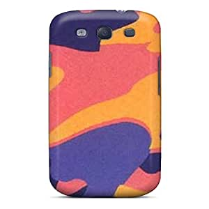 Ajephke Case Cover For Galaxy S3 - Retailer Packaging Camo Bright Protective Case