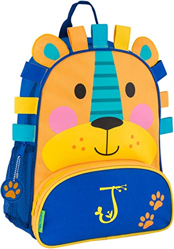 Monogrammed Me Sidekick Backpack, Blue Lion, with Garden Monogram J
