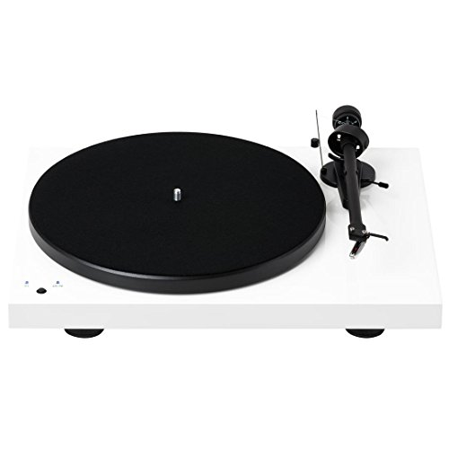 Pro-Ject Debut III Recordmaster Turntable with USB and Phono Preamp- White