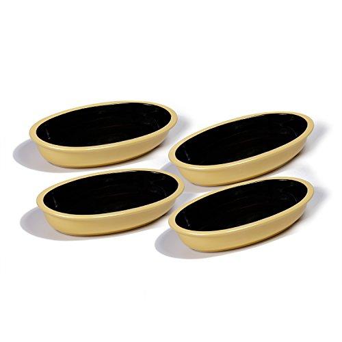 Yellow Oval Baking Dish - Ovenex 24 oz. Oval Ceramic Serving & Baking Dish Set – 4 Pack (Sunlight Yellow)