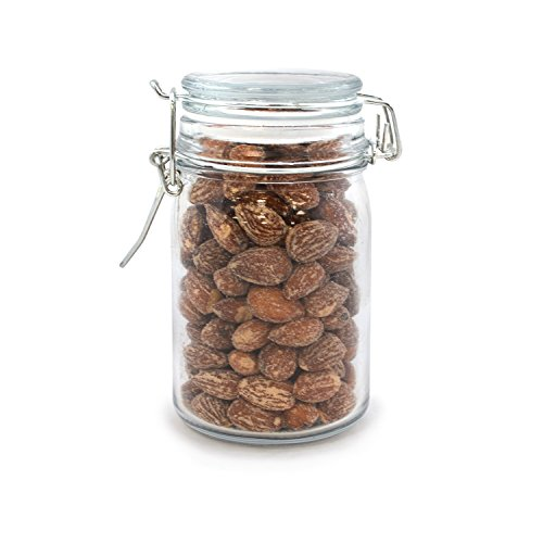 Almonds, Smoked, Wire Mason Jar 24ct/5.5oz by In-Room Plus, Inc.
