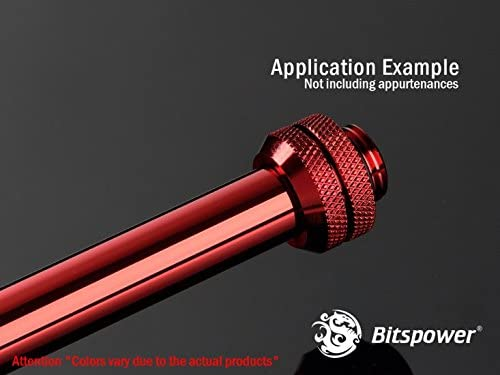 4-Pack 0.70mm WD Bitspower None Chamfer Brass Link Tubing 12mm OD 300mm Deep Red