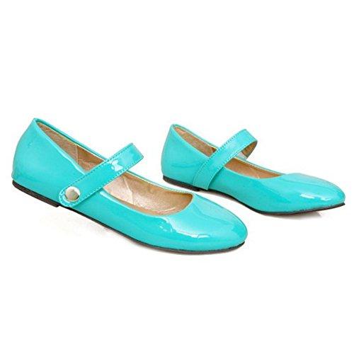 à à bonbon et Velcro vert mode rond ronds à en bout Chaussures bouts la TAOFFEN couleur nWqwf7A8gF