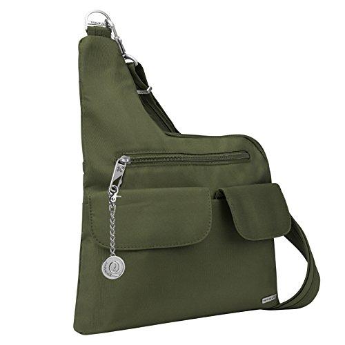 Keychain Metal Anti Green Travelon Handbag Bag Classic Purse Charm Theft Messenger 4P0AF