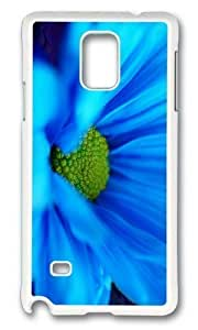 Adorable blue daisy macro Hard Case Protective Shell Cell Phone Iphone 5C - PC White