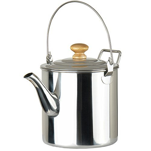 Lixada 3000ML Outdoor Camping Pot Stainless Steel Kettle Tea Kettle Coffee Pot