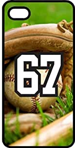 Baseball Sports Fan Player Number 67 Black Plastic Decorative iPhone 5c Case by lolosakes