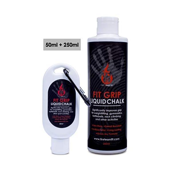 Fire Team Fit Liquid Fit Grip, Gesso Liquido, Sport Chalk, Gesso per Sollevamento Pesi, Scalata, Gesso in Una Bottiglia 6 spesavip