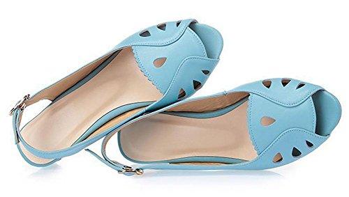 En verano con sandalias de mujer pez sandalias de la hebilla cabeza days blue