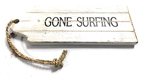 Gone Surfing Door Tag Wood Sign 9