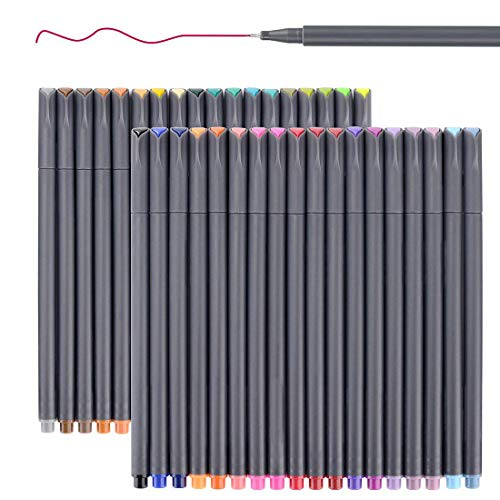 Smart Colored Pens for Journal Notebook Planner 2019-2020, Fine Point Pens Fine Tip Drawing Pens Colorful Markers for Journaling Writing Note Taking Calendar Art Coloring (36 Colors) (Best Planner Pens 2019)
