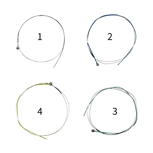 QINGGE Violin strings 3/4, 4/4, Full Set Nylon String Alloy violin strings,(E-1 A-2 D-3 G-4) 1set with another E1 string,model C13 by QINGGE (Image #5)
